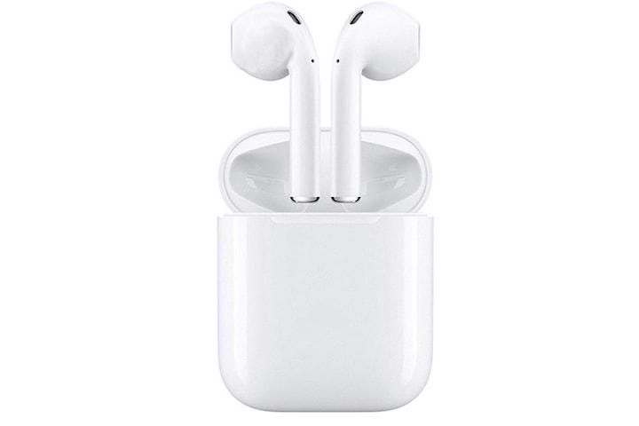 i18 TWS Trådlösa hörlurar, Bluetooth 5.0, med strömbox, Vit
