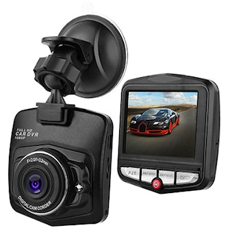 Svart, Dashcam 140° Angle & Full HD, Dashcam 140° full HD,