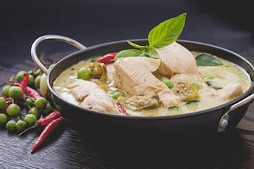 Catering av asiatiska kycklingrätter