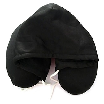 Svart, Classic Hooded Travel Pillow, , ,