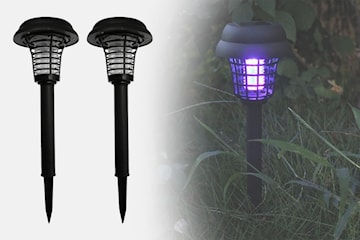 Solcellsdriven LED-mygglampa 2-pack