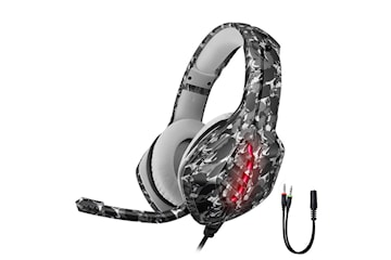 Gaming headset - PS4/Xbox/PC - Kamouflagegrå
