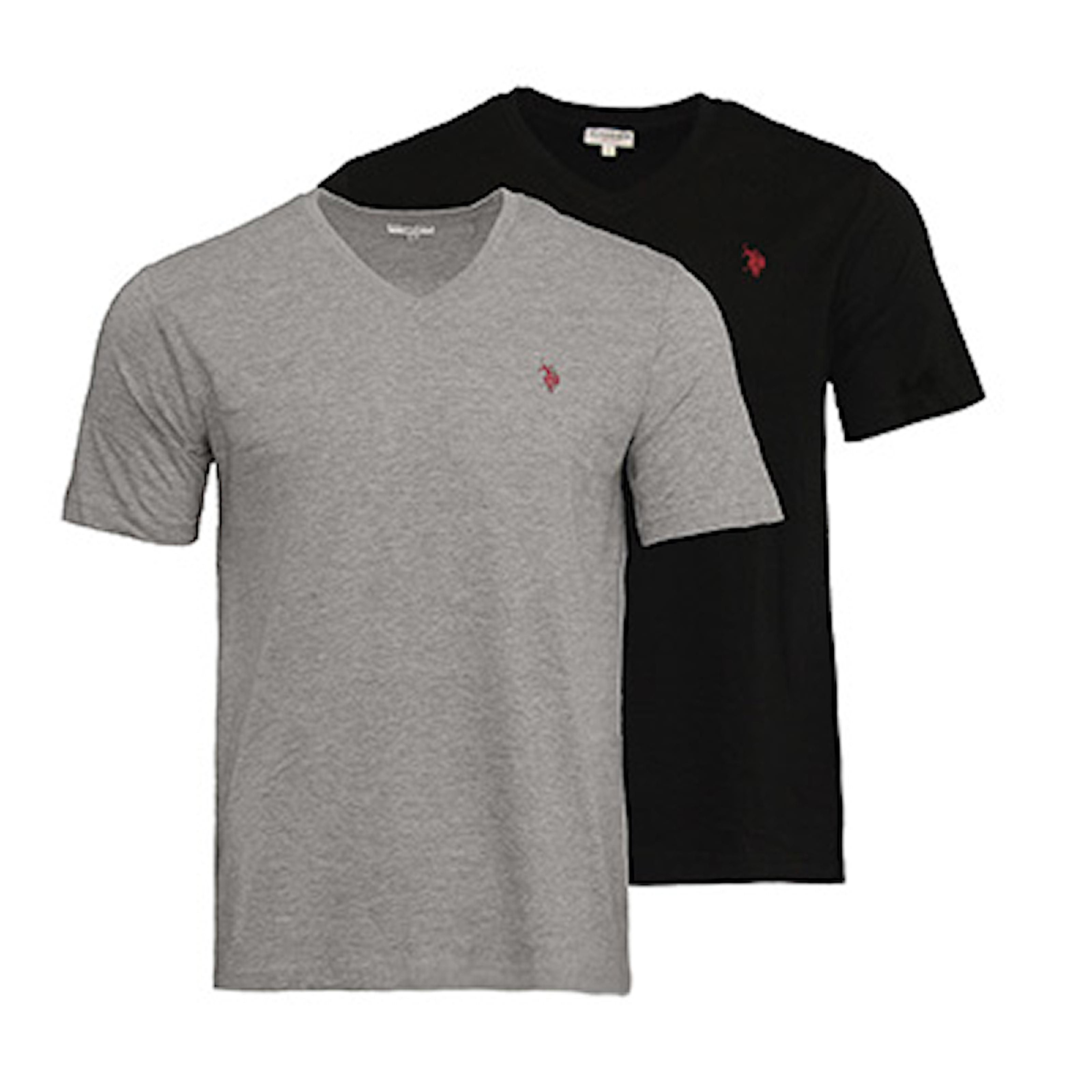 1 x Svart, 1 x Grå, L, 2-pcs, T-skjorter fra U.S. Polo, ,