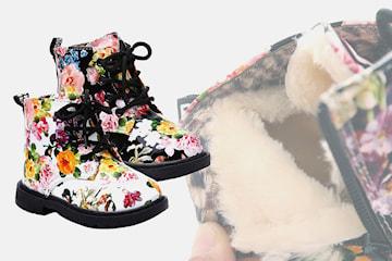 Forede støvler med blomstermønster