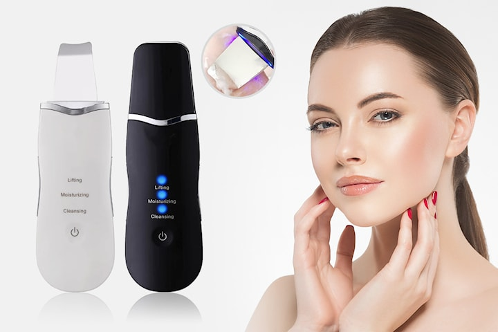 Ansiktsskrubb med ultraljud