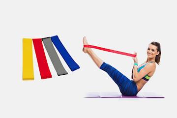 Elastiska träningsband 4-pack