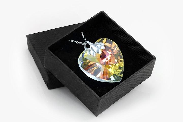 Hjertesmykke med Swarovski-krystall