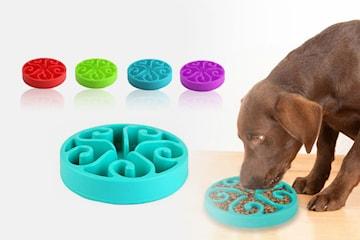 Matskål med labyrintform för hundar