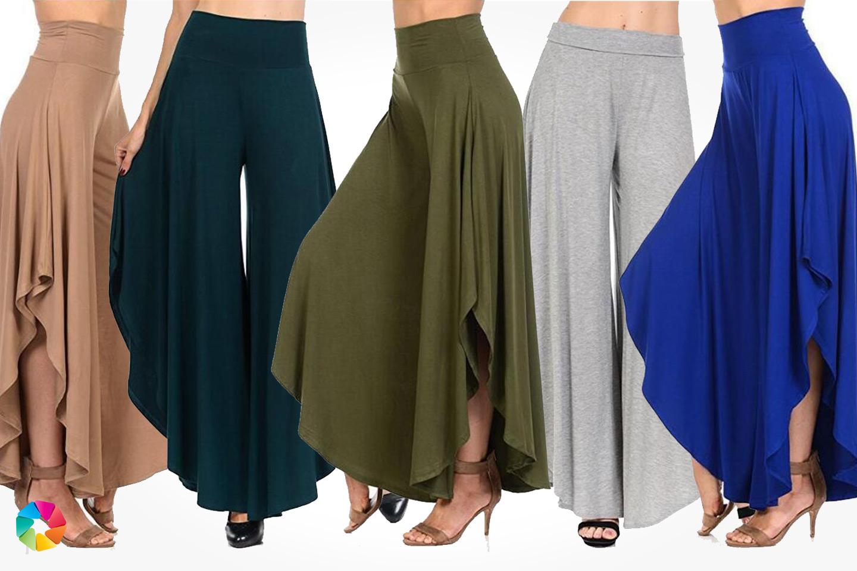 Bukser med vide ben (1 av 8)