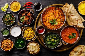 7-retters indisk vegetarisk/vegansk catering hos Karvan Kitchen