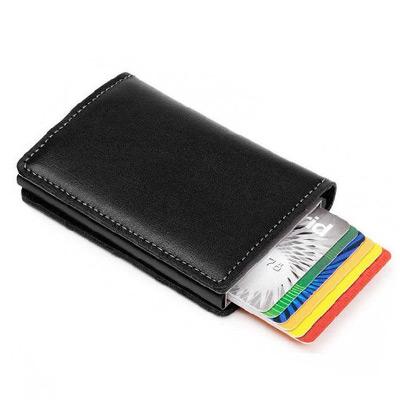 Svart, Card Holder PU Wallet, Kortholder i PU-skinn, ,  (1 av 1)