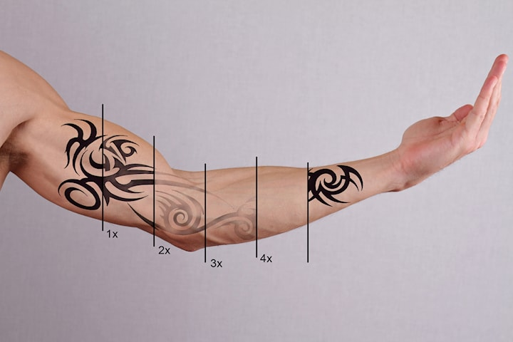 Tatueringsborttagning á 4 tillfällen