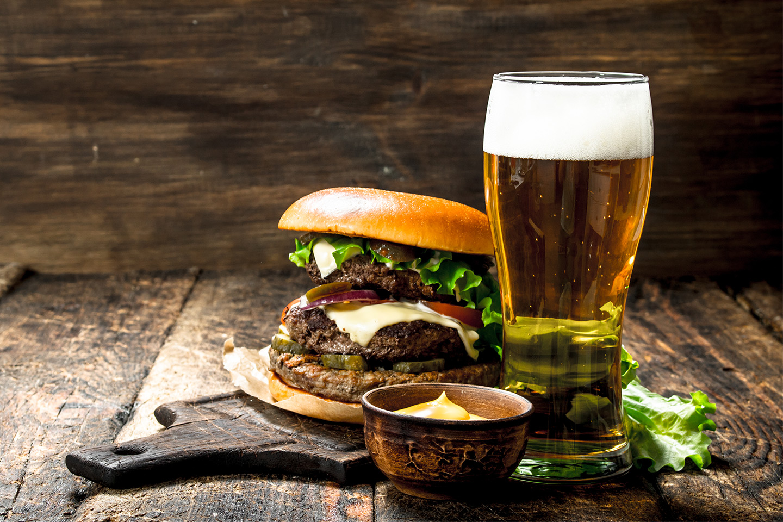 200 g Hagaburgare och öl på Göteburgare (1 av 1)