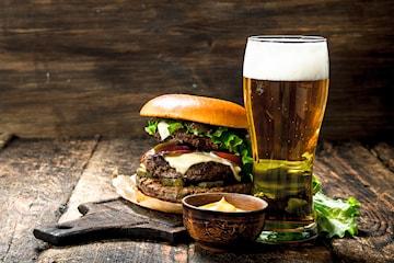 200 g Hagaburgare och öl på Göteburgare