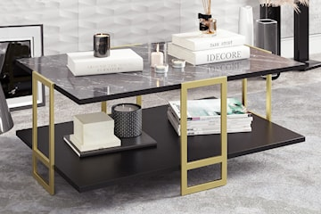 Hanah Home marmorliknande soffbord
