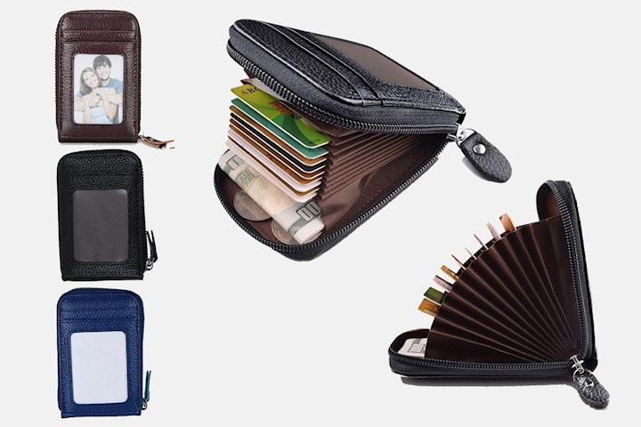 RFID-skyddad plånbok i läder