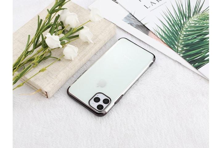 Elektropläterat TPU-skal iPhone 11 Pro Max med två skärmskydd.
