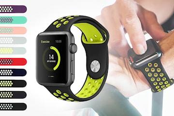 Silikonarmband kompatibelt med Apple Watch