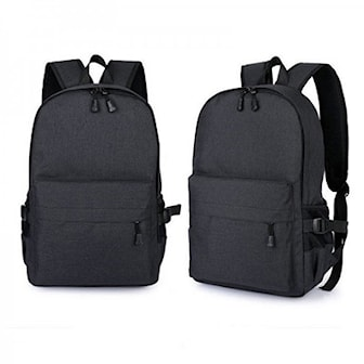 Svart, Unisex Anti-Theft Laptop Backpack, Anti-stöld ryggsäck, ,