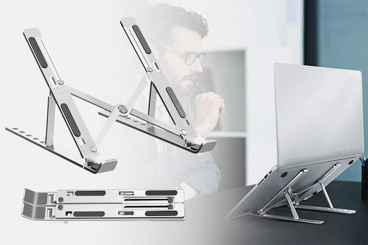 Justerbart stativ för laptop eller surfplatta