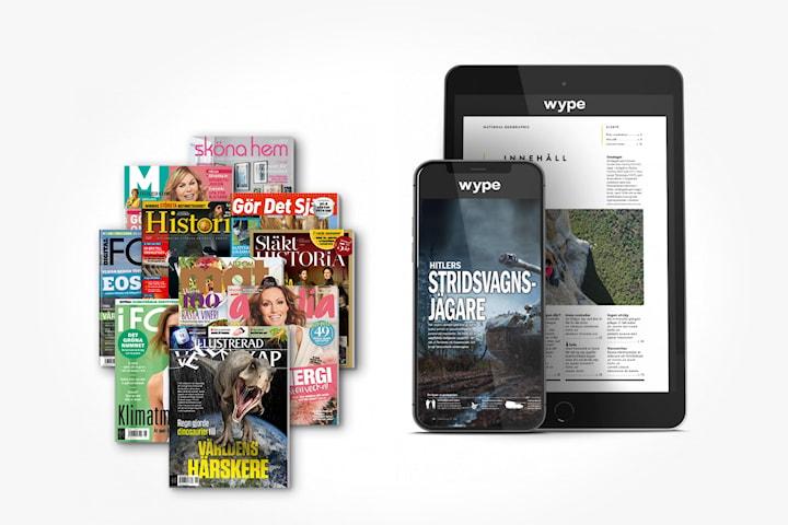 Prova Wype gratis i 2 månader: magasin online
