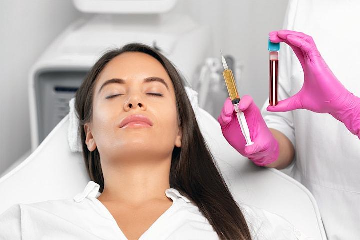 Foryngende PRP-behandling for hud eller hår hos Estetika Klinikk