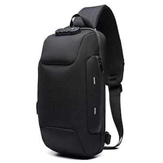Svart, Theft & Water Resistant Backpack With Lock, Ryggsekk med lås, ,