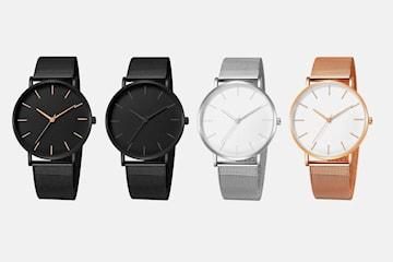 Klocka i minimalistisk design