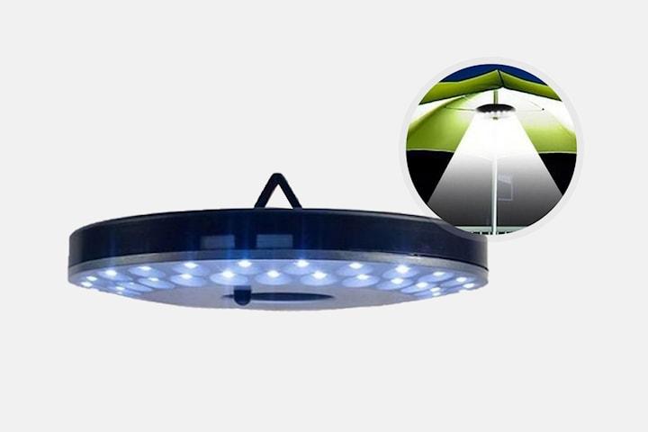 Parasollampa med 48 LED-ljus