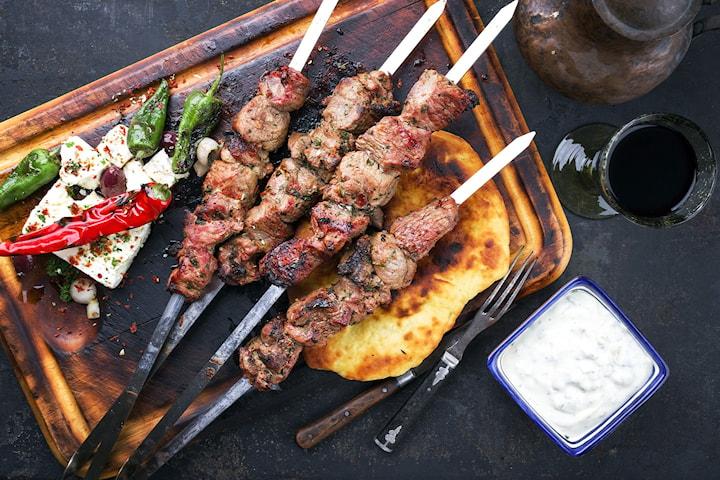 Tvårätters på Greek Taverna Giamas