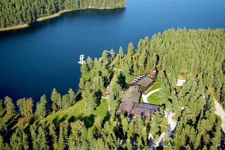 Övernattning för 2 inklusive vandring på Hotel Mullsjö