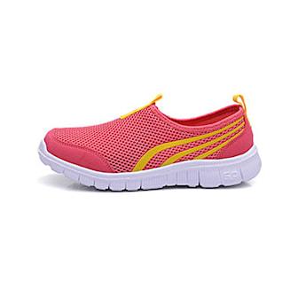 Röd, 37, Sporty Mesh Shoes, Träningsskor utan snörning, ,