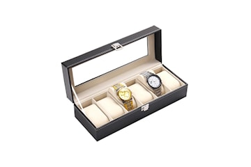 Lyxig Klockbox / Klocklåda för 6 Klockor