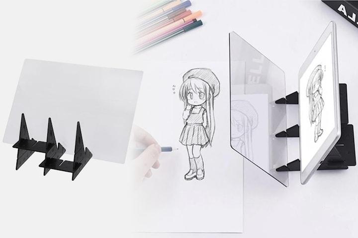 Optisk tegnebrett speilplate