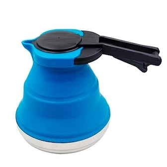 Blå, Outdoor Silicone Foldable Water Teakettle, , ,