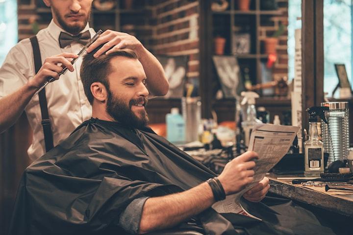 Klippning, skäggtrimning och styling