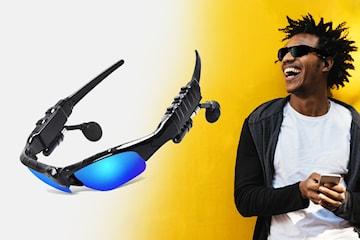 Solbriller med innebygde trådløse hodetelefoner