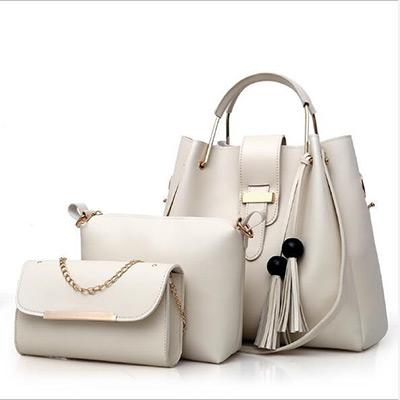 Beige, 3-pcs Women Handbags, Handväska, 3-pack, ,  (1 av 1)