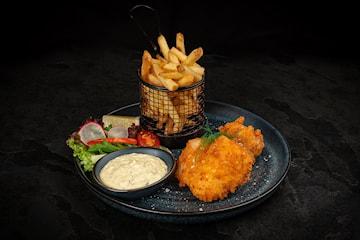 Prøv bestselgeren Fish & chips hos Cafe Bergen