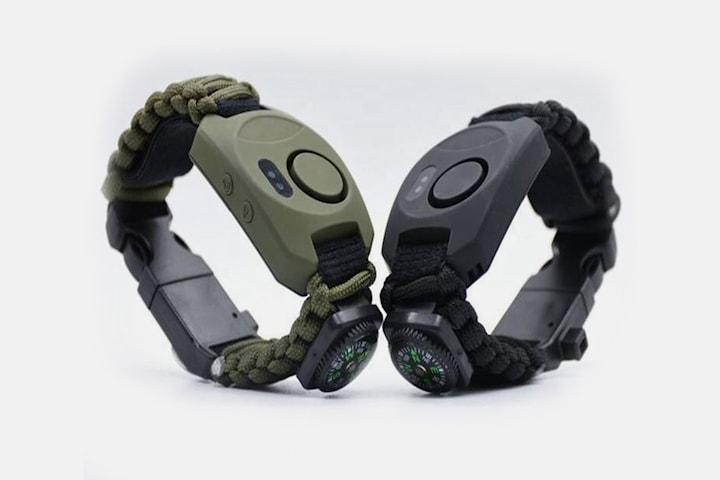8-i-1 multifunktionellt Parcord-armband