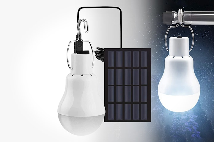 Solcellelampe portabel