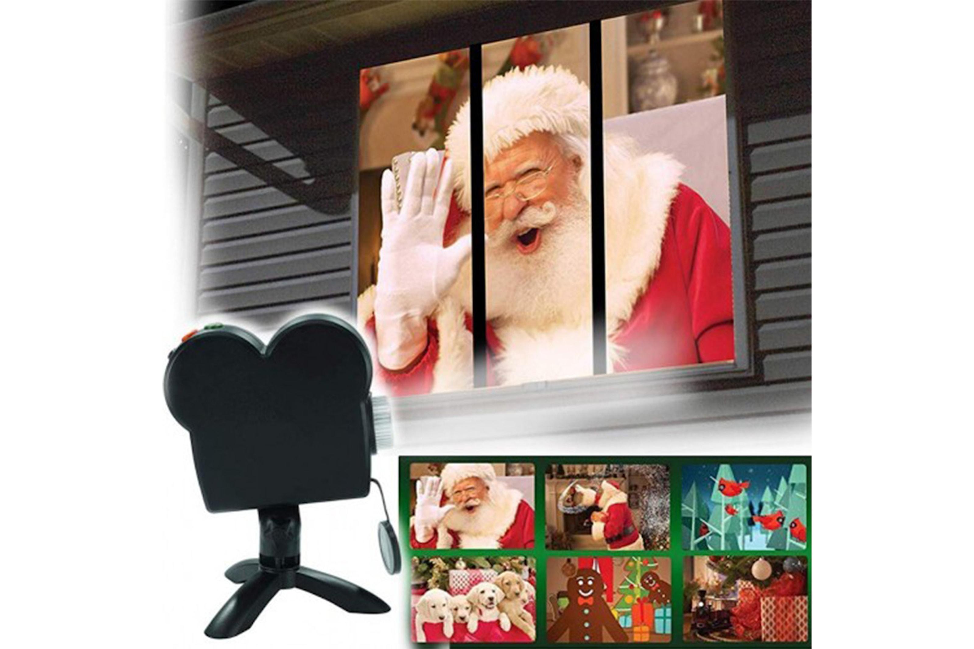 Fönsterprojektor med julmotiv
