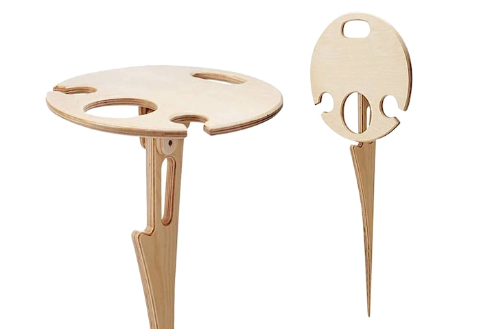 Bärbart picknickbord i trä