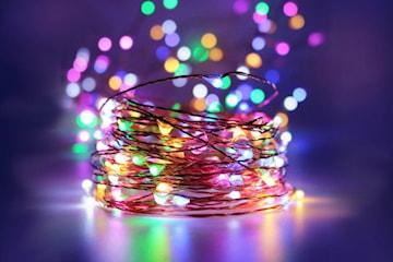 Lysslynge LED i kobber med fjernkontroll