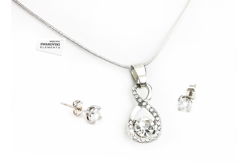 Smykkesett med Swarovski-krystaller