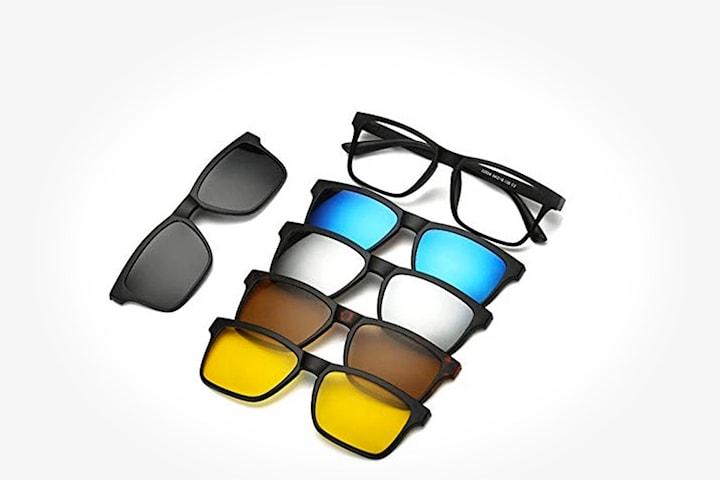 Bågar med fem utbytbara linser