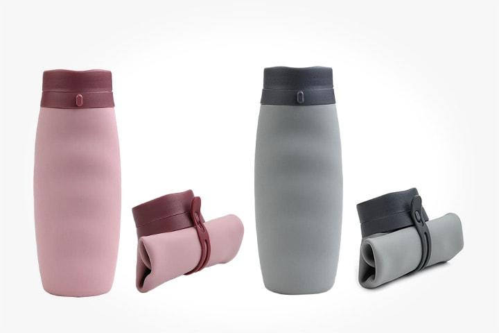 Sammenleggbar vannflaske i silikon