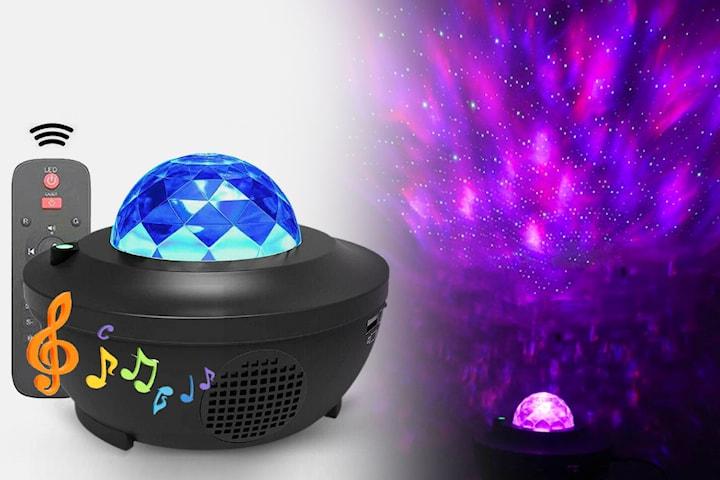 Nattlampa med LED-lampa och högtalare