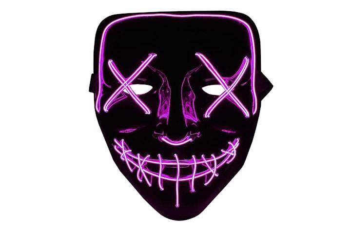 The Purge LED Neon Mask, Halloween - Rosa