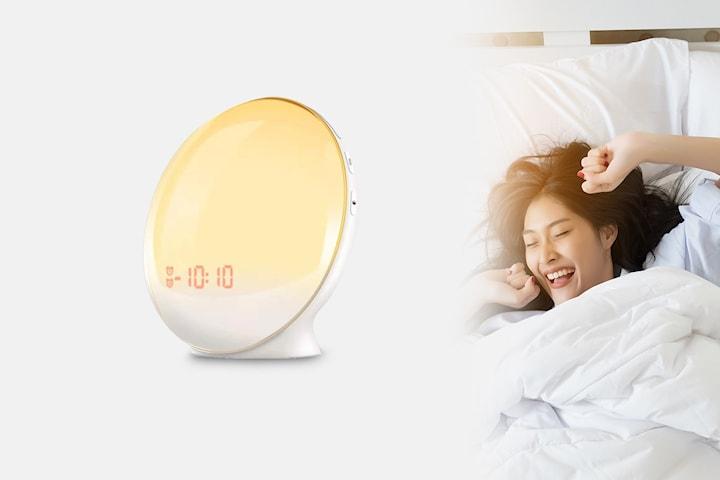 Vekkerklokke med wake up light